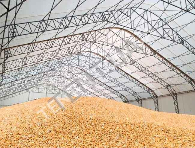 Тентовые склады, зернохранилища